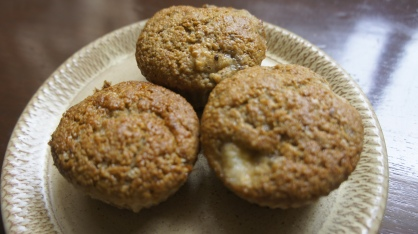 On Tuesday - Oatmeal & Banana Muffins